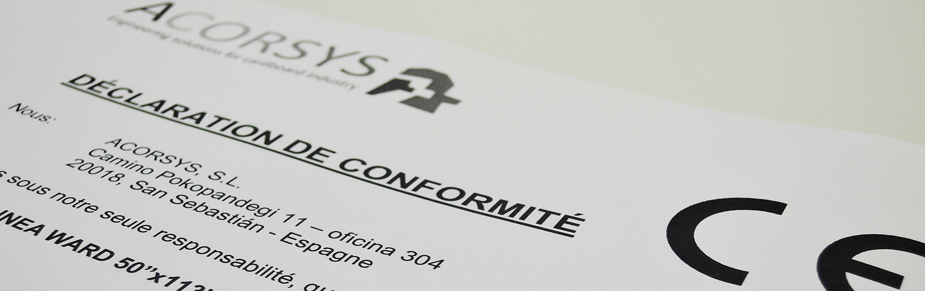 Acorsys offersupdate and adaptation ofcorrugatedmachines according to the CE standards