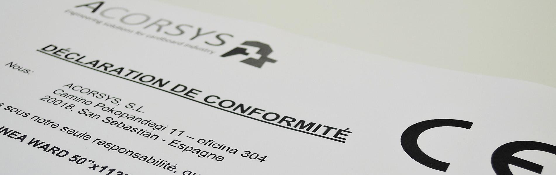 Acorsys renueva y adapta la maquinaria del sector del cartón a la normativa europea CE