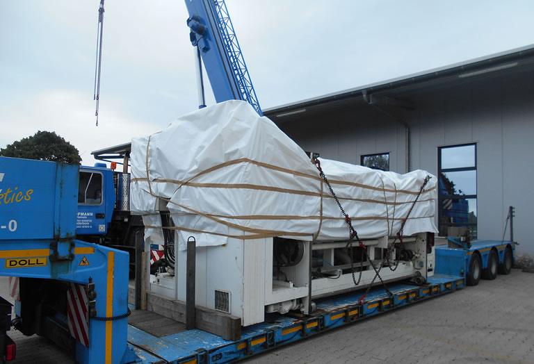 Acorsys ofrece logística y transporte especializado de maquinaria para la industria del cartón